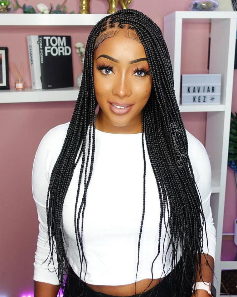 Mia - Knotless Box Braided Wig (Lace Front Wig)