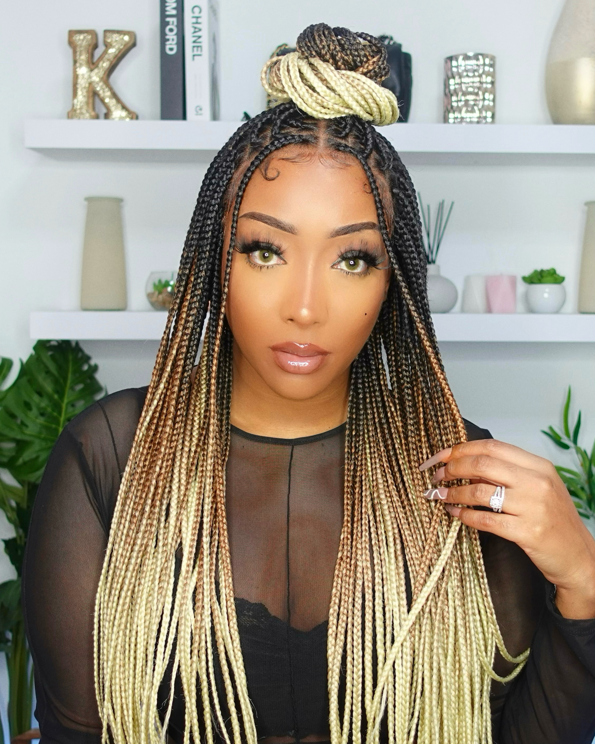 Leah - Box Braided Wig (Lace Front Wig)