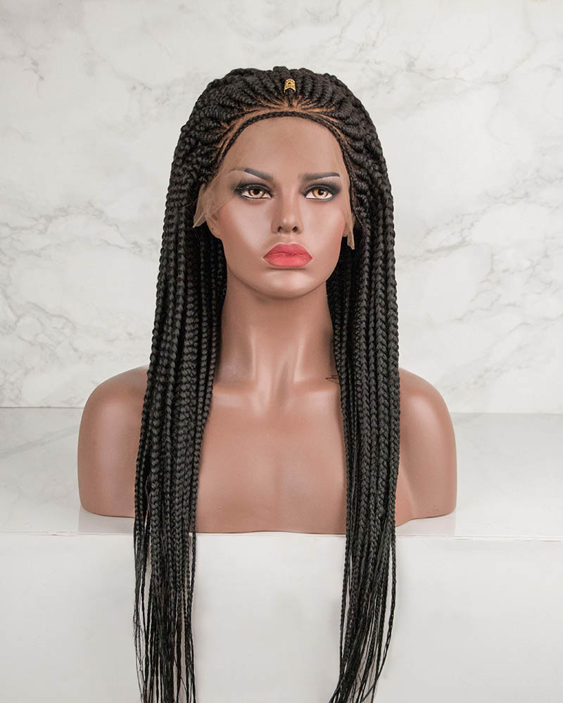 Tiya -Cornrow Braided Wig